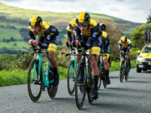 Il Team LottoNL-Jumbo impegnato nella cronometro a squadre del Tour of Britain © Tour of Britain