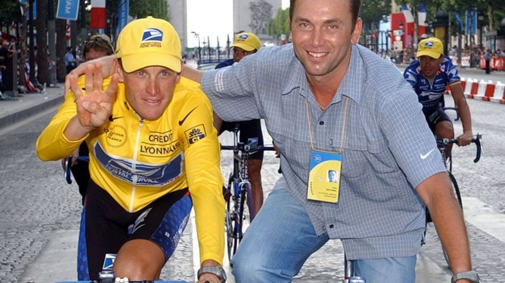 Lance Armstrong e Johan Bruyneel © POOL/AFP/Getty Images