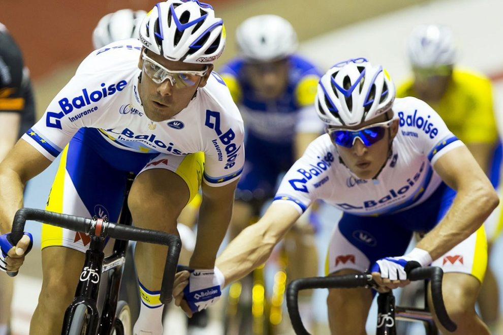Kenny De Ketele e Robbe Ghys impegnati nella Madison © Zesdaagse Gent