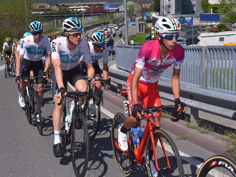 Iván Sosa impegnato al Tour of the Alps © Team Sky