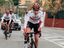 Fabio Aru in allenamento © UAE Team Emirates