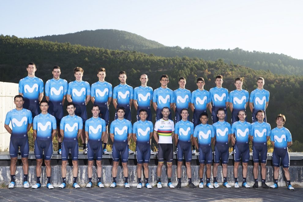 Foto di gruppo per il Movistar Team © Photo Gómez Sport