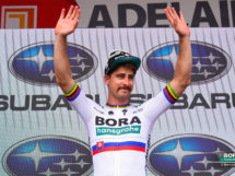 Il Peter Sagan versione Eagles in scena al Tour Down Under © Bora Hansgrohe-Bettiniphoto