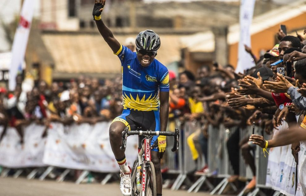 The exultation at the goal of Moise Mugisha © Tour de l'Espoir