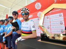 Alejandro Valverde all'UAE Tour © LaPresse
