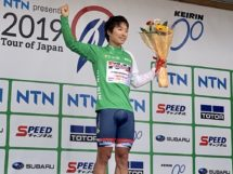 Atsushu Oka sul podio al Tour of Japan © Tour of Japan