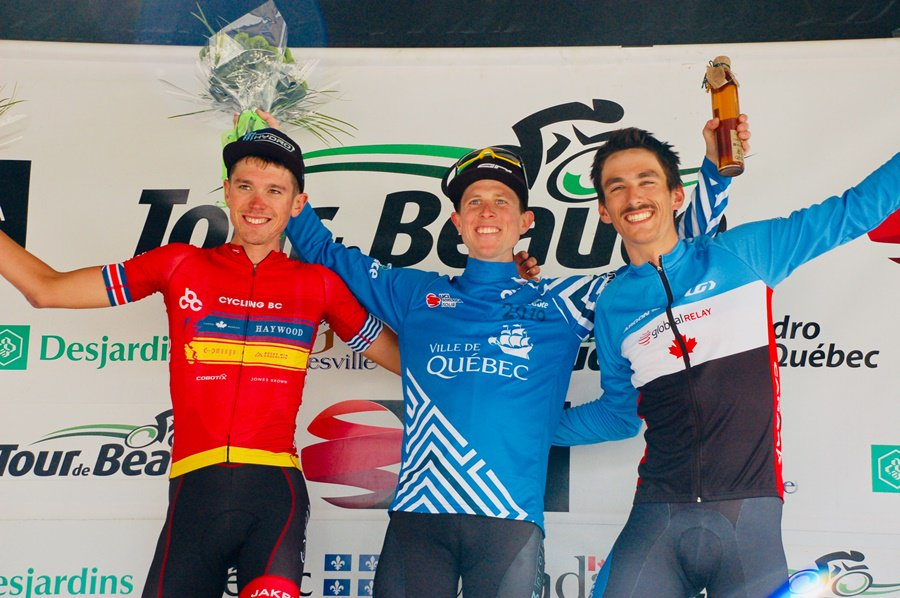 Il podio della quarta tappa del Tour de Beauce © Tour de Beauce