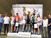 Il podio della seconda tappa del Tour of Malopolska © CCC Development Team