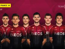 Il Team Ineos per il Tour de France