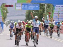 L'esultanza di Eduard Grosu al Tour of Qinghai Lake © Tour of Qinghai Lake