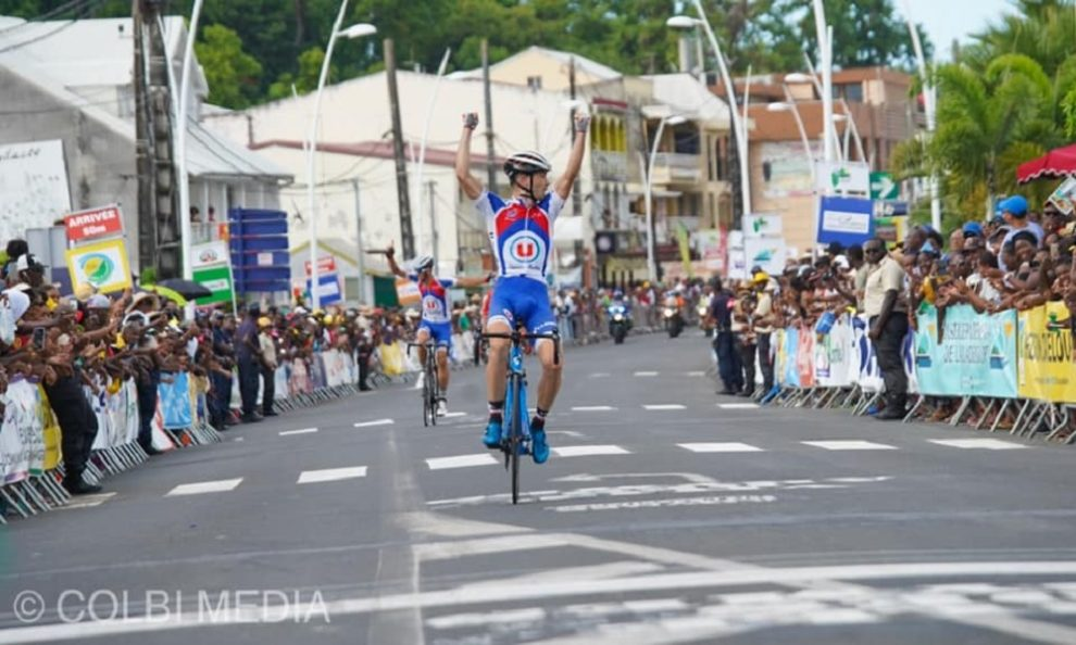 Killian Larpe esulta al Tour de la Guadeloupe © Colbi Media