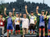 Marcus Culey e compagni in Indonesia © Team Sapura Cycling