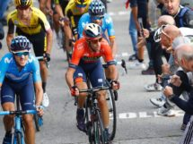Vincenzo Nibali in azione al Lombardia 2019 © Bettiniphoto