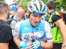 August Jensen in maglia Israel Cycling Academy © Israel Cycling Academy