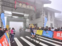 La gioia di Jambaljamats Sainbayar al Tour of Fuzhou © Tour of Fuzhou