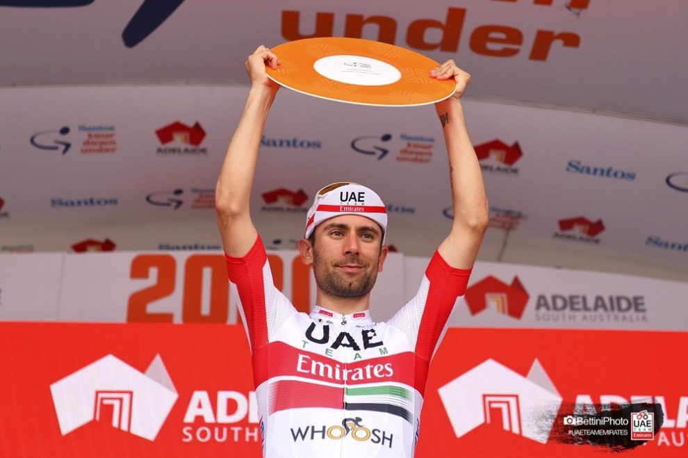 Diego Ulissi sul podio al Tour Down Under © Bettiniphoto