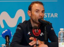Alejandro Valverde in conferenza stampa © Movistar Team