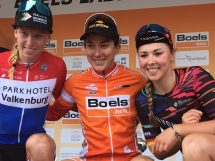 Il podio finale del Boels Ladies Tour 2019