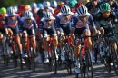 Vincenzo Nibali in testa al gruppo © Getty Images