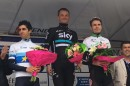Il podio maschile alla Chrono des Nations © Team Sky